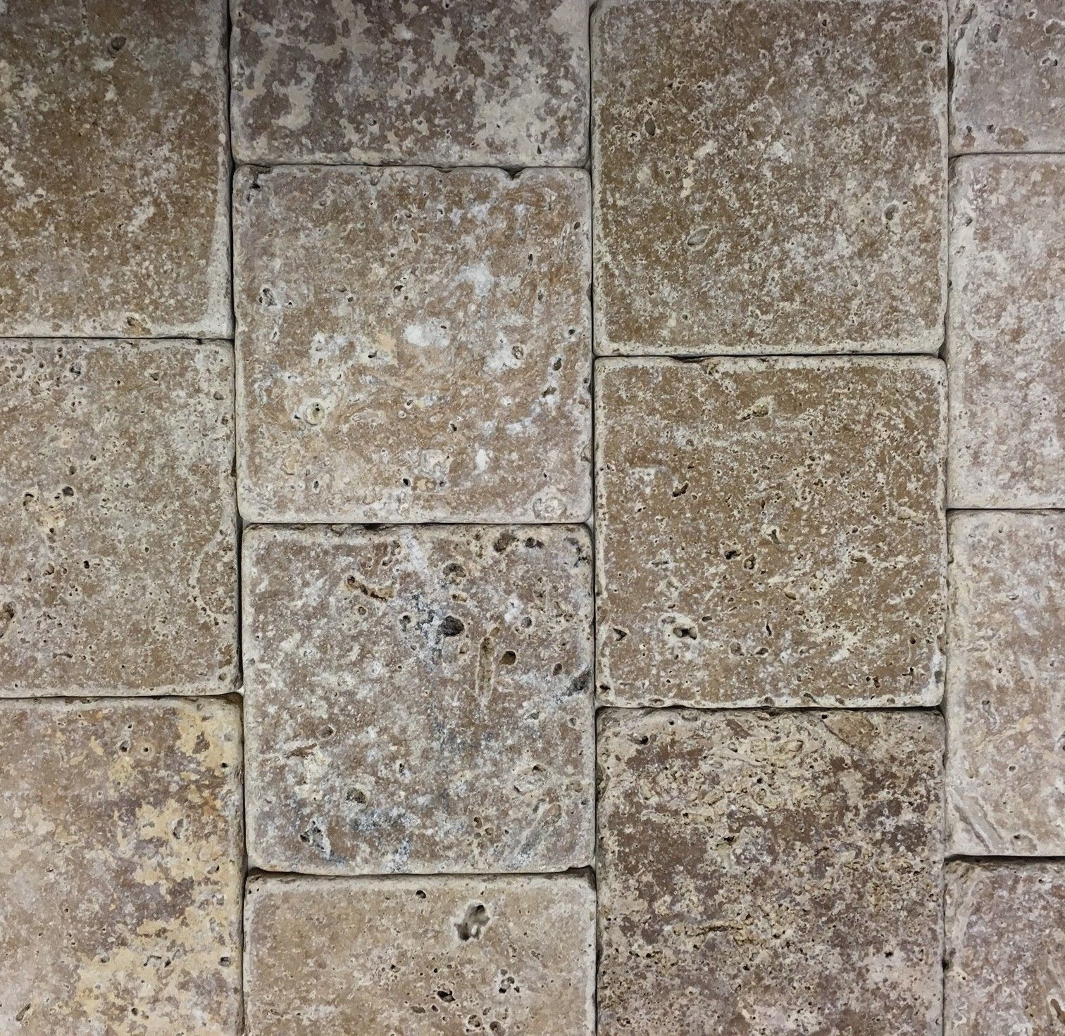 - $3.89 - Noce 4X4 Tumbled Travertine Tile Backsplash Floor Wall