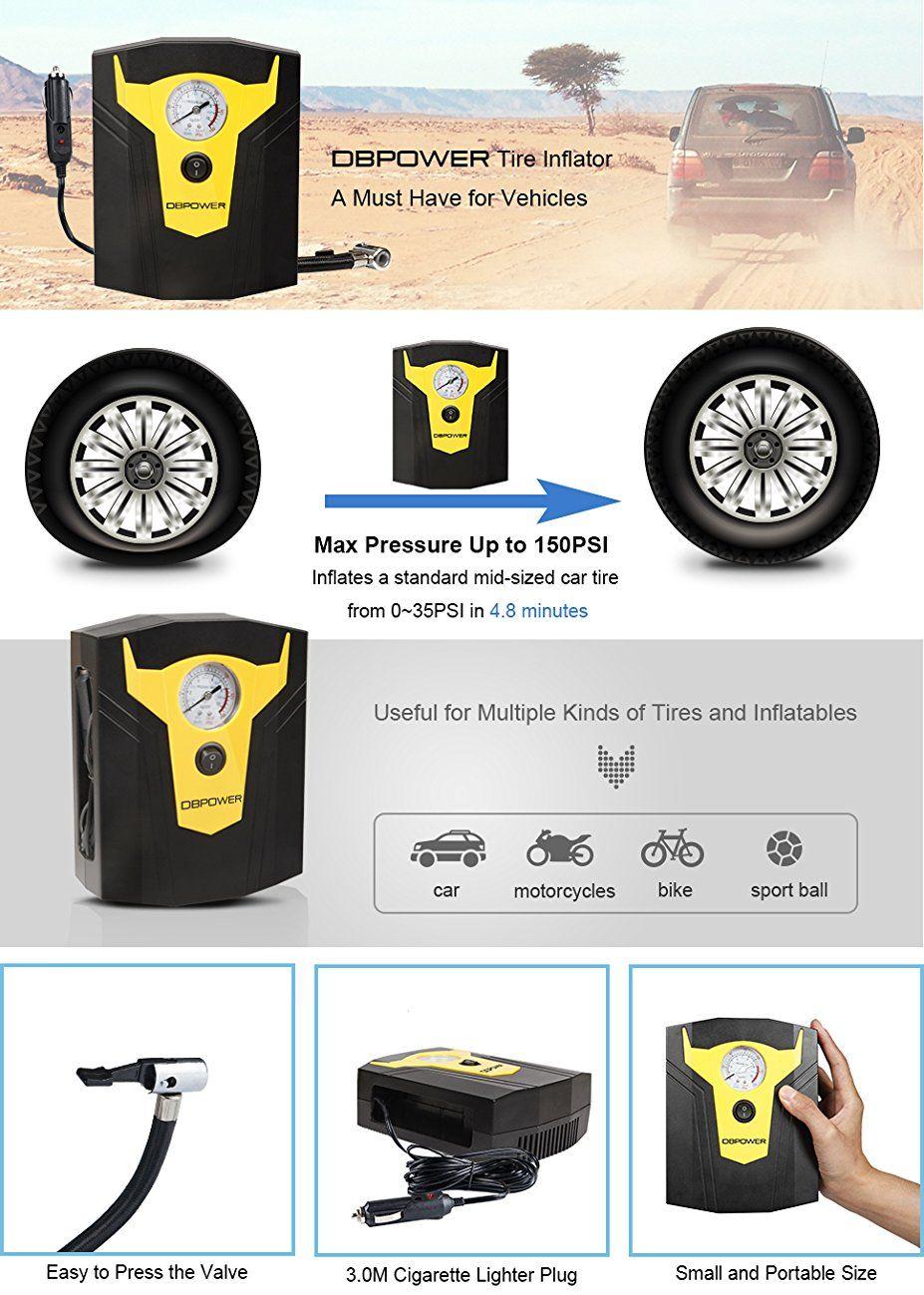 DBPOWER 12V DC Air Compressor Pump Digital Tire Inflator