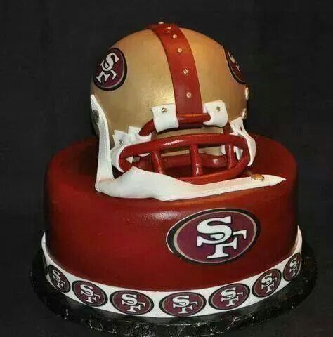 Pin By Gilbert Obregon On Birthday Niner Style 49ers Cake