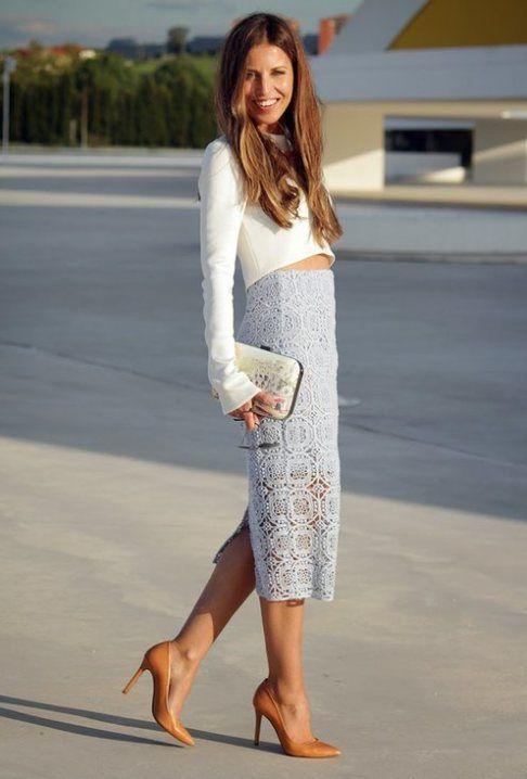 49bb530cb LACE SKIRT / LA FALDA DE ENCAJE ESTA DE MODA | Outfits | Falda de ...