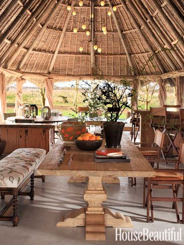 Indoor Outdoor Living In Kenya African Interior