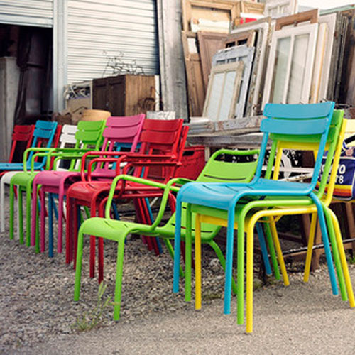 Modern Colorful Metal Outdoor Chairs And Tables From French Manufacturer Fermob
