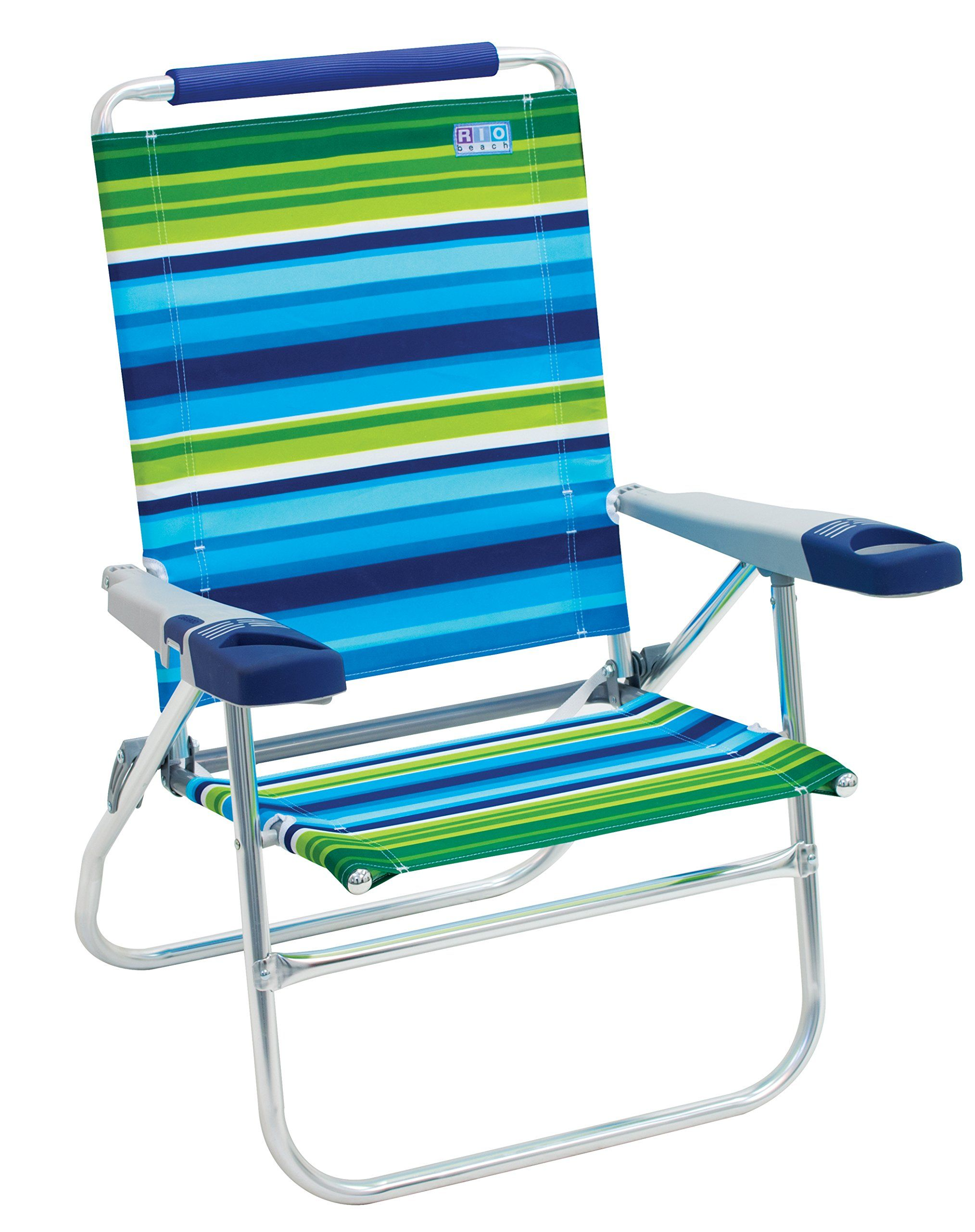 Beach Chair Blue Green Stripe