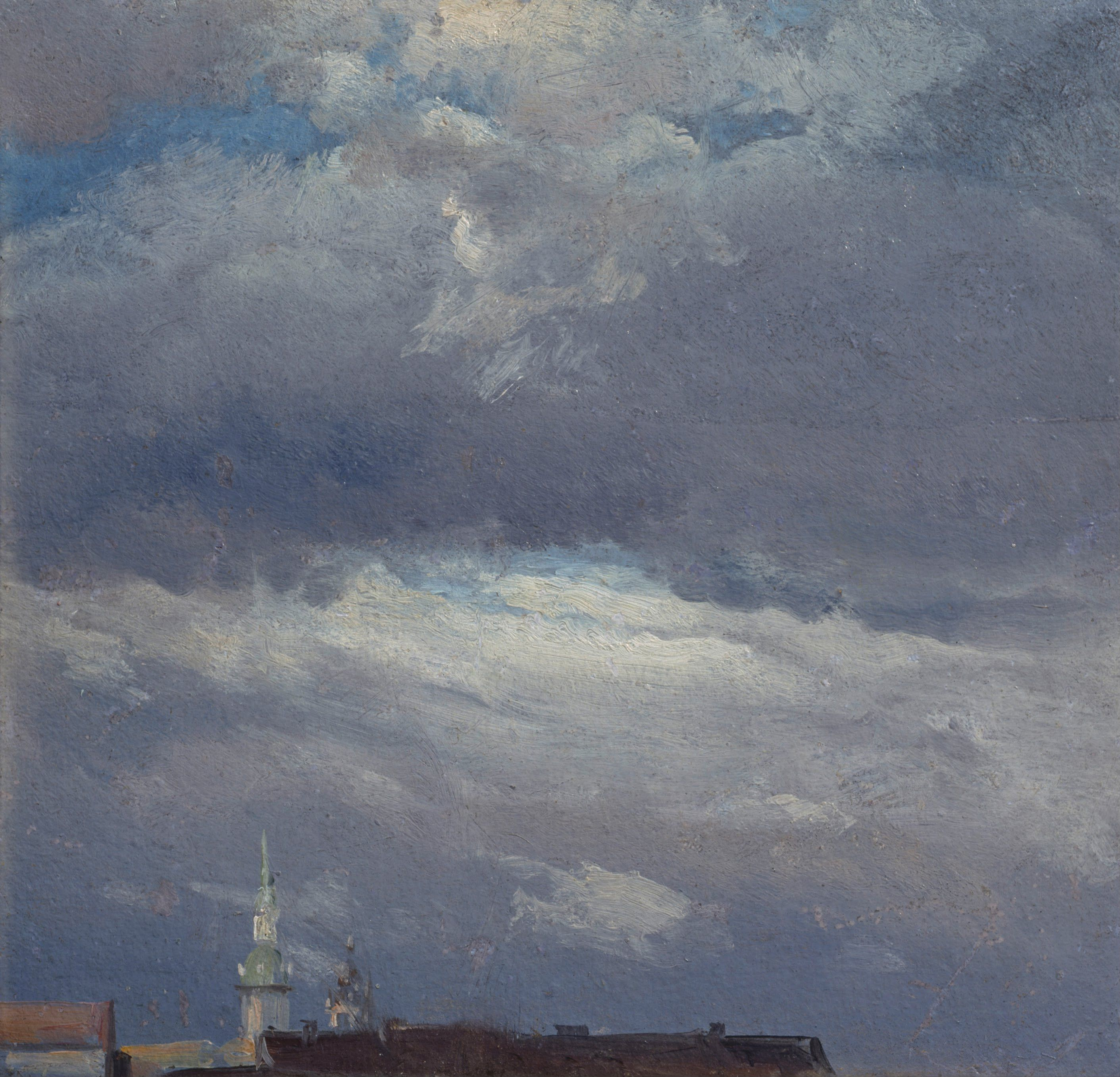 Stormclouds over the Castle Tower in Dresden Johan