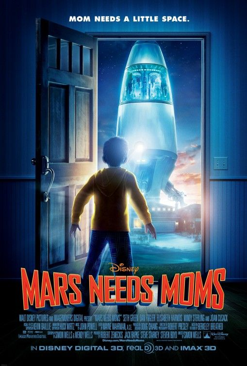 Mars Needs Moms Movie Poster 2011 Filmes Online Dublado Filmes