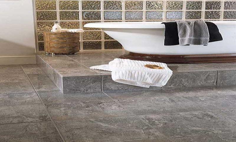luxery Glass Tile Bathroom Ideas | Stylish Bathroom Tile Ideas Glass Tile In Modest White Bathroom