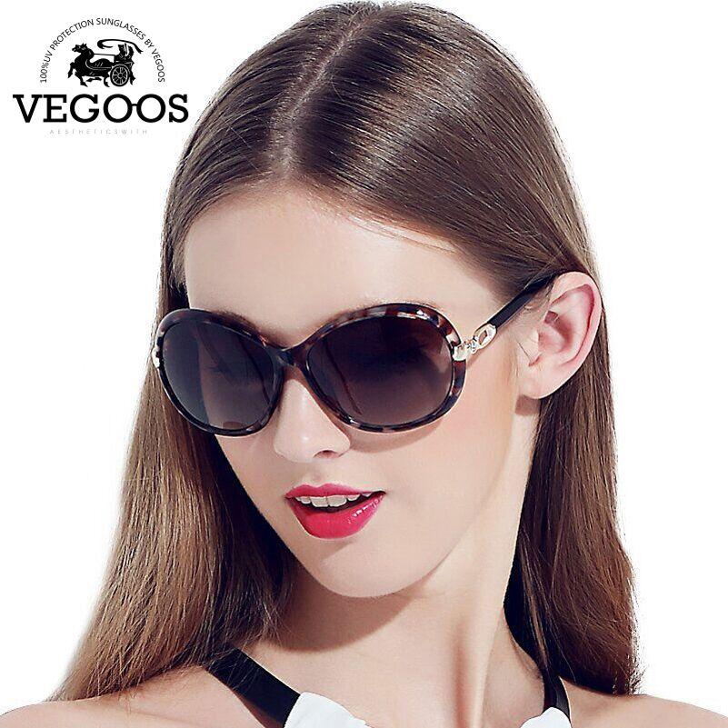 b651b57f2 VEGOOS Luxury Brand Designer Polarized Sunglasses sun Glasses Women New  Classic Retro Oval Round Big oculos de sol feminino#9021