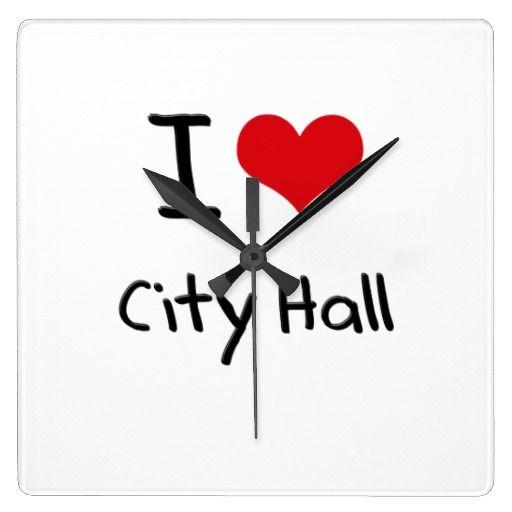 I love City Hall Wall Clocks