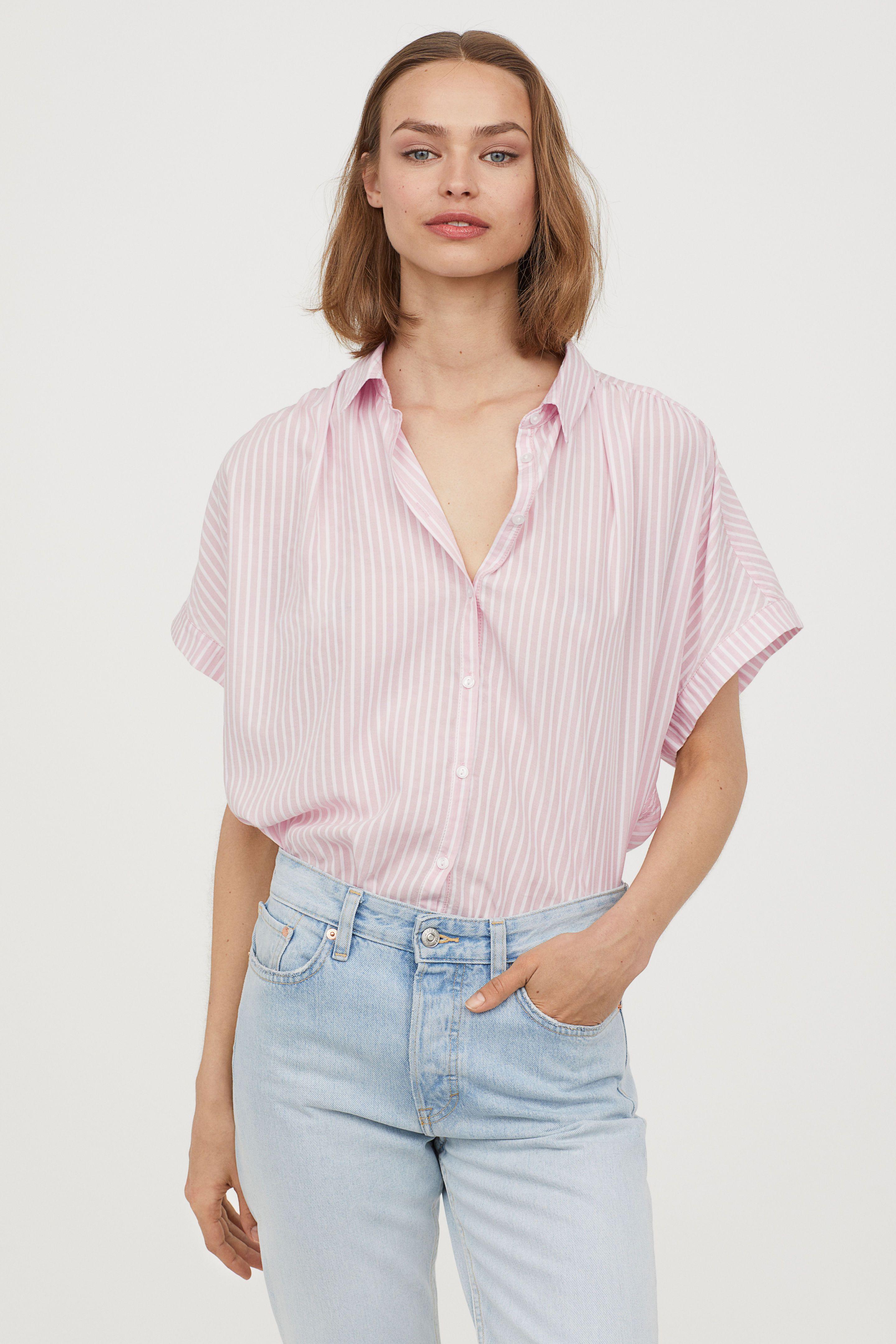 bad284fe69d7 Blusa holgada en 2019 | CAMISAS | Blusas, Blusas holgadas y Blusa rosa