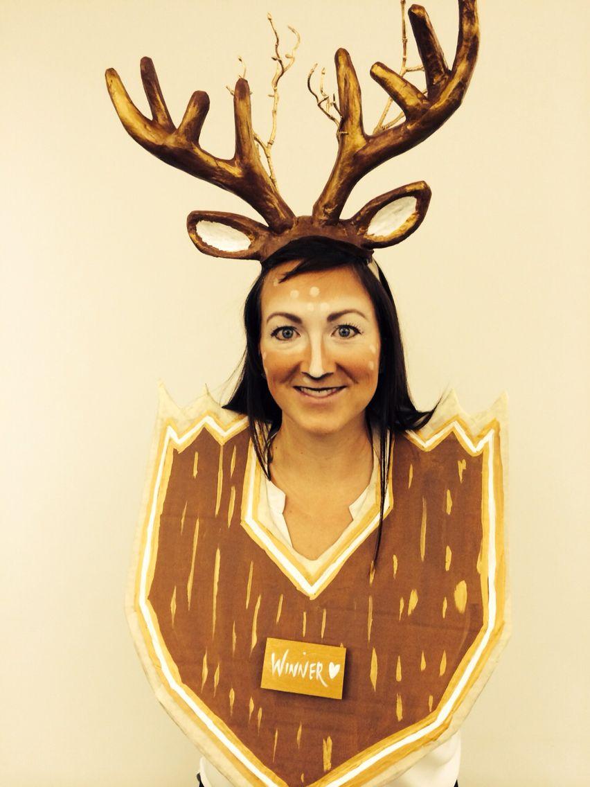 My Halloween Costume. Deer Trophy Head. #trophyhead #deerhead ...