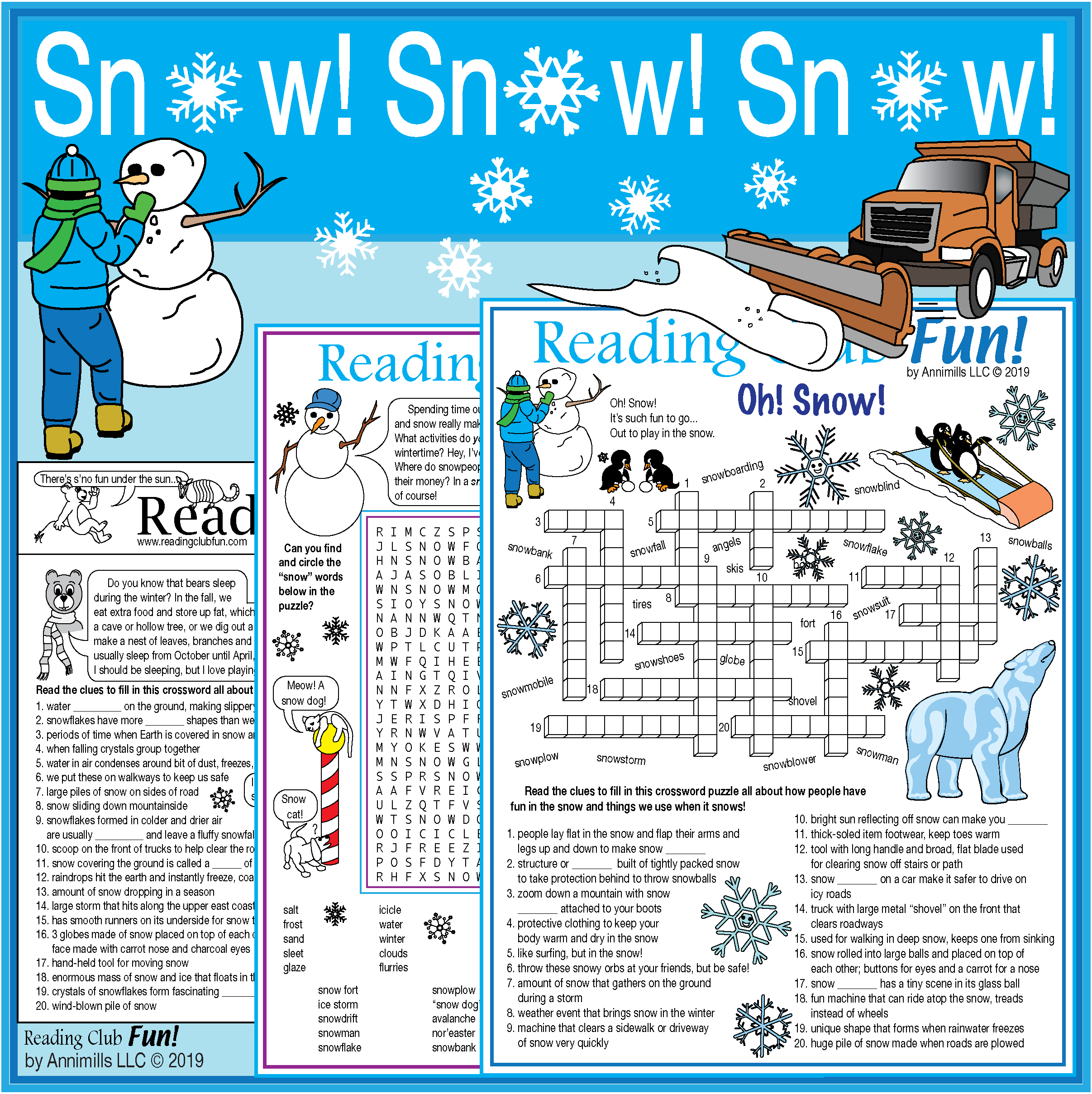 Snow Fun Packet Vocabulary Rich Puzzles About Snow