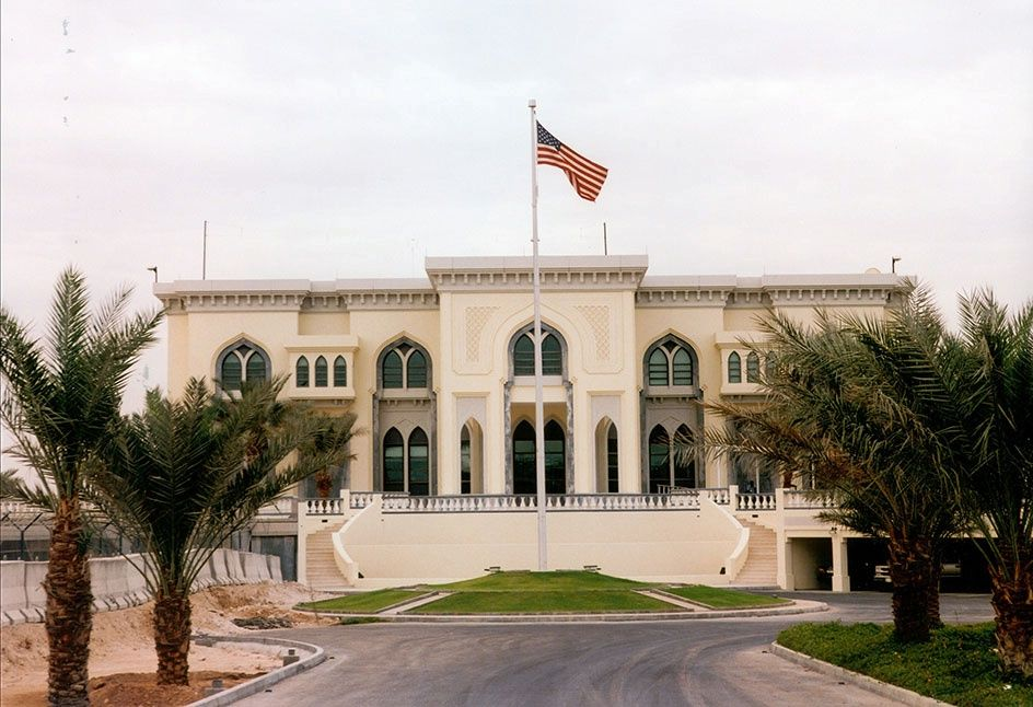 Us Embassy Doha Google Search House Styles Mansions Embassy