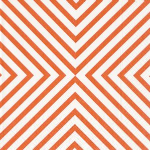 Chevron Coral Paper Luncheon Napkins - 20 per package