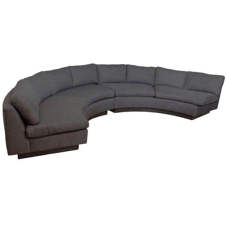 1970's Milo Baughman Circular Sofa | From a unique collection of antique and modern sectional sofas at https://www.1stdibs.com/furniture/seating/sectional-sofas/