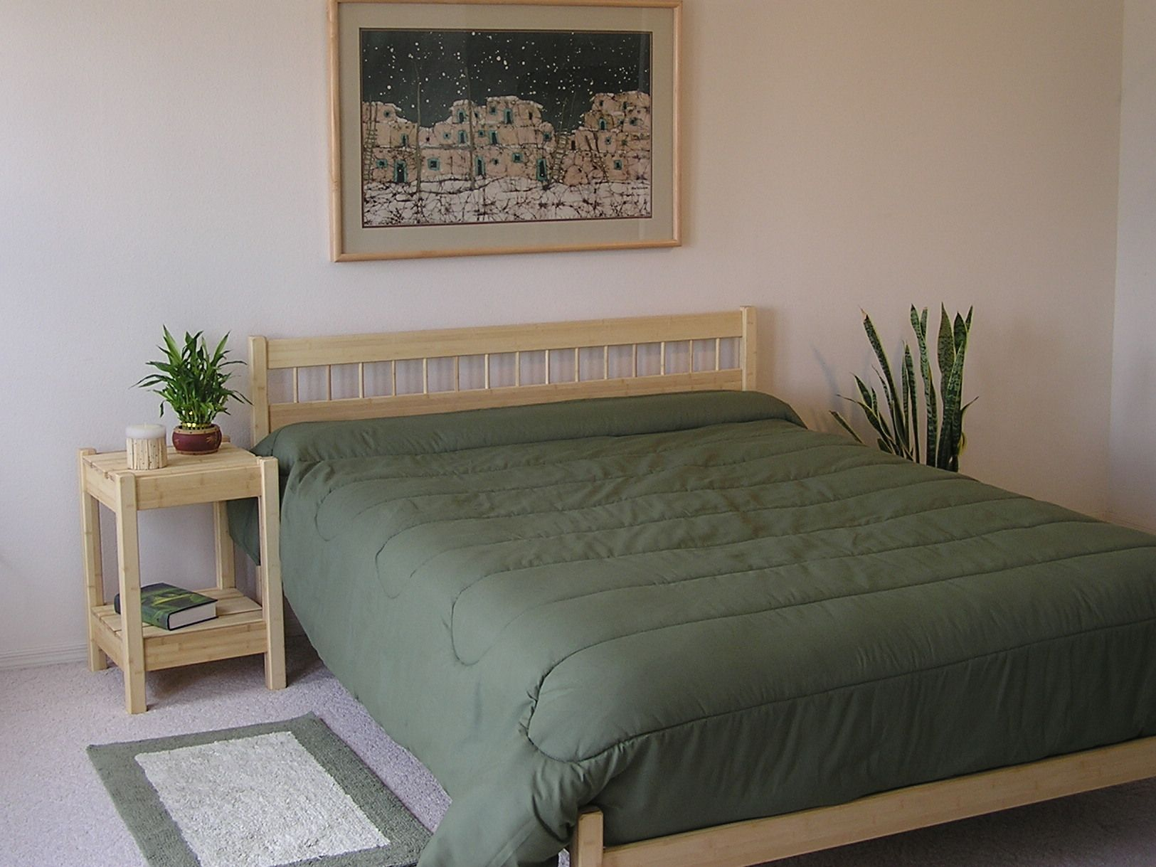 Sandia Bed Table with Ranch Bed Bed, California king
