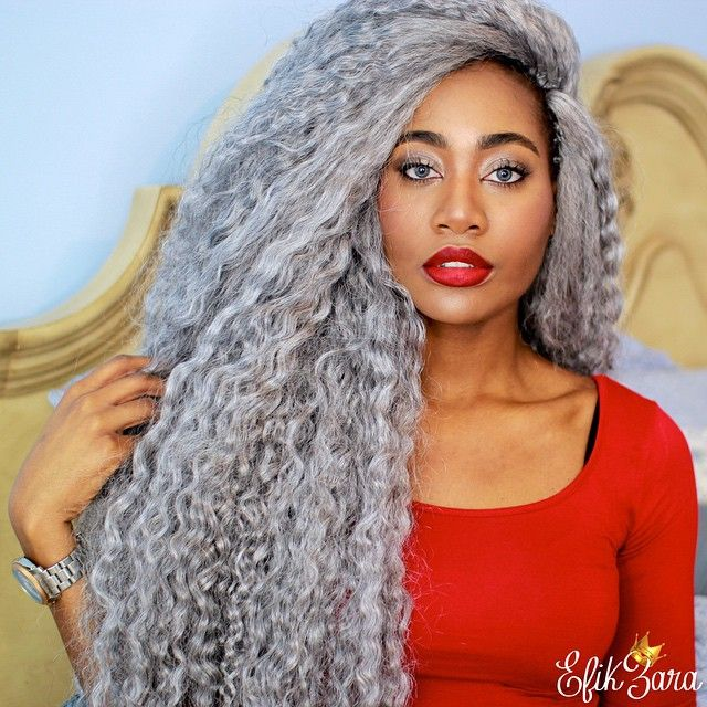 NEW HAIR 😍! SILVER goddess crochet braids installed by the ...
