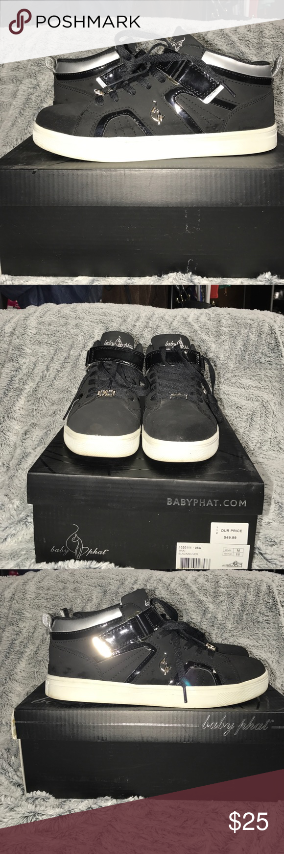 Black and silver baby phat sneakers Excellent condition only worn a few times. Baby Phat Shoes Sneakers