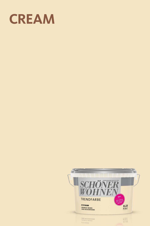 Trendfarbe Cream Schonerwohnen Cream Eine Der Originalen Trendfarben Von Schoner Wohnen Farbe In 2020