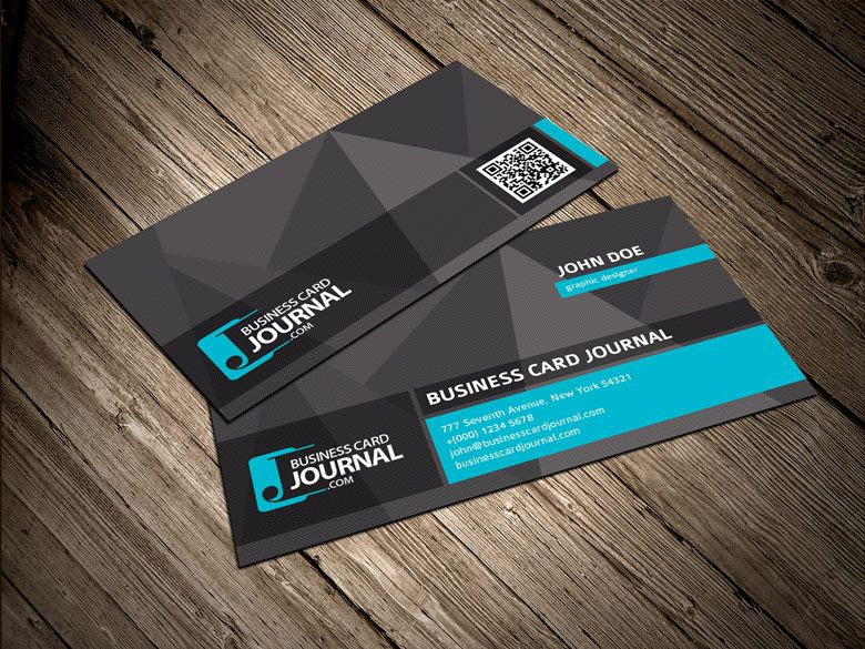 Free Cool Unique Business Card Template With Qr Code  Business