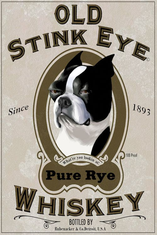 Tattoo Images Eye Of Rye: Old Stink Eye Whiskey Canvas Wall Art By Brian Rubenacker