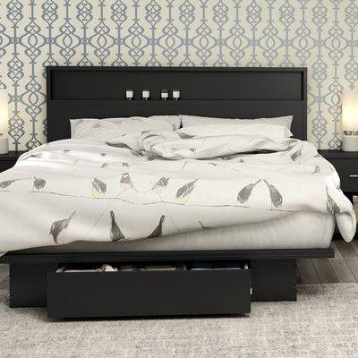 Full/ Queen Storage Platform Bed   Wayfair   guest stuff   Pinterest