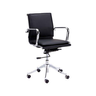 Sunpan Modern Urban Unity Morgan Mid-Back Office Chair Upholstery: White