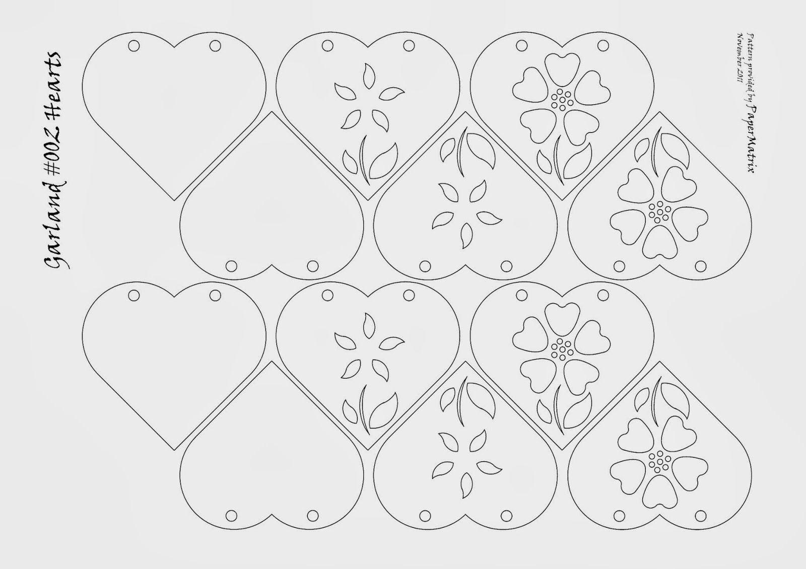 Moldes o Plantillas de Corazones. | bordados | Pinterest | Plantilla ...