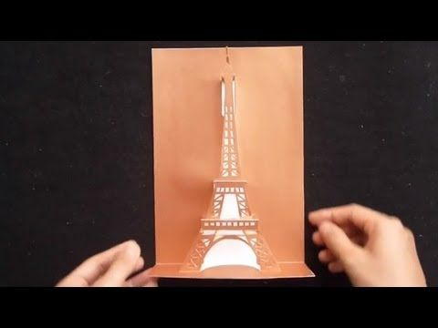Pop Up Eiffel Tower Card Tutorial Origamic Architecture Cartes 3 D Projets A Essayer