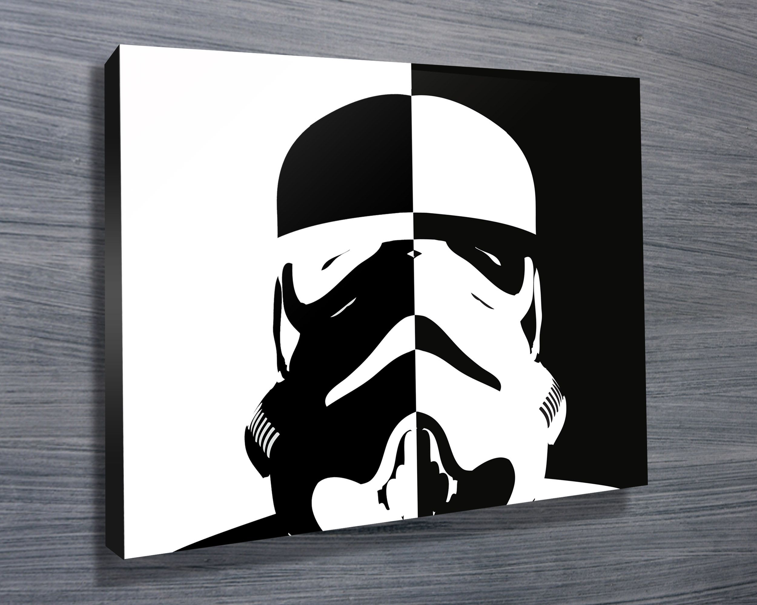 Stormtrooper black and white pop art httpbluehorizonprints this star wars themed canvas artwork features the stunning pop art of the stormtrooper as with all art on this site we offer these prints as stretched amipublicfo Choice Image