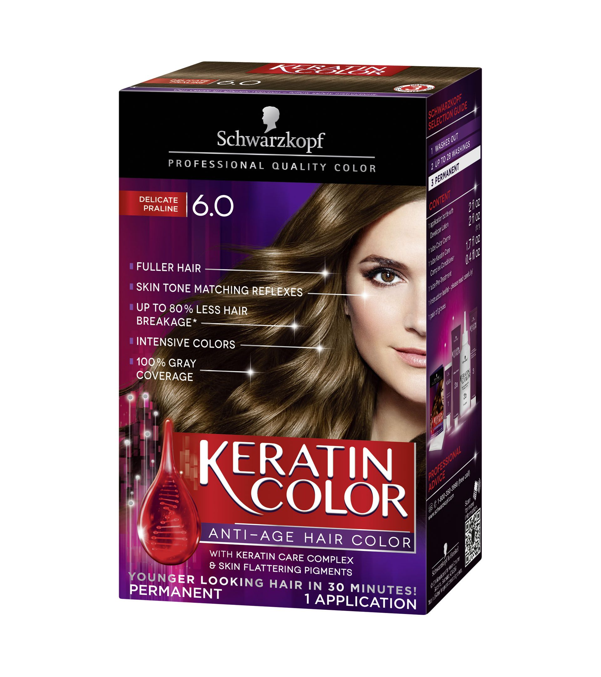 Praline Brown is a pecan. The solution is white Hair