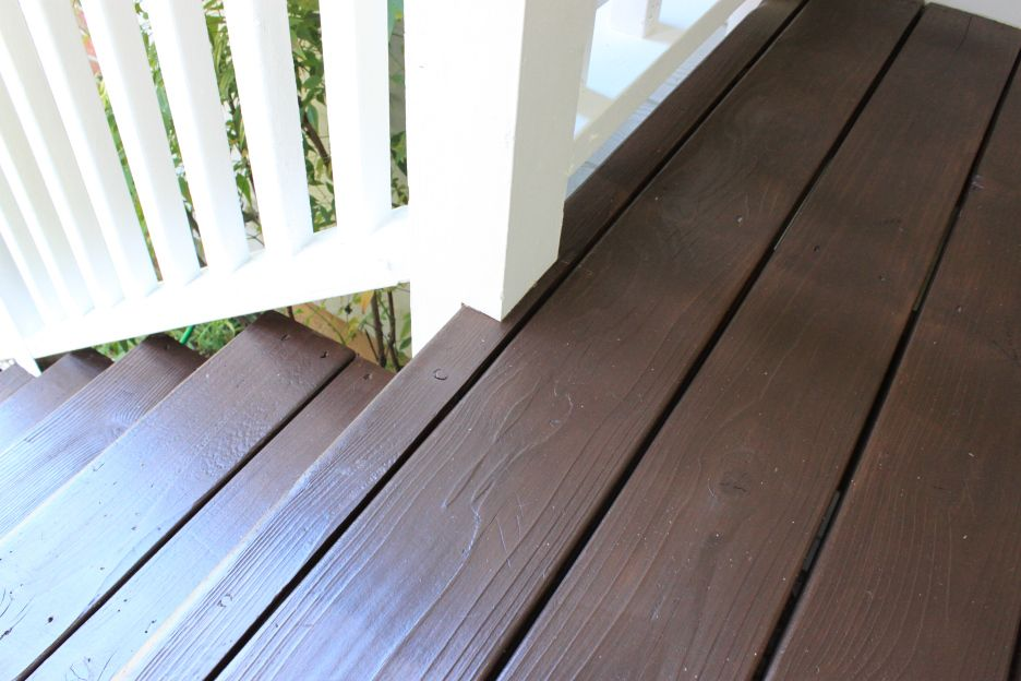 Front Porch Just Like Playing House Deck Restoration Staining
