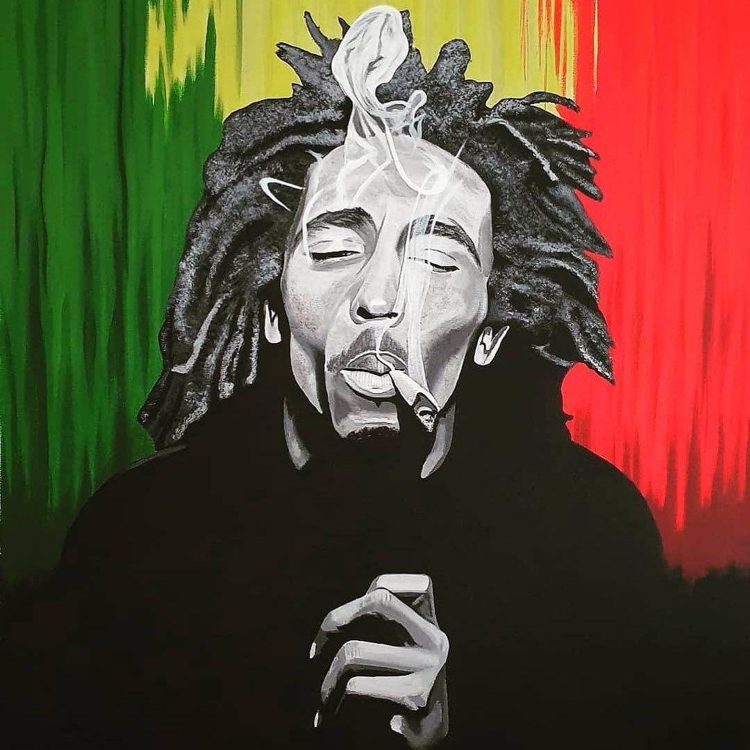 Pin By Yahir Lorenzo Arrocha On Davids Art Bob Marley Art Reggae Art Rasta Art