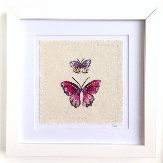 Butterfly framed wall art picture gift personalised by DottyOnline