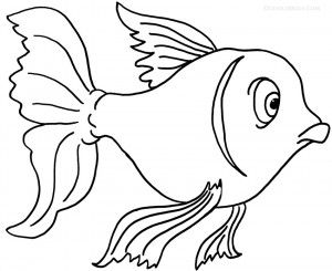 Goldfish Coloring Pages | Ocean Themes/Ideas/Activities | Pinterest ...