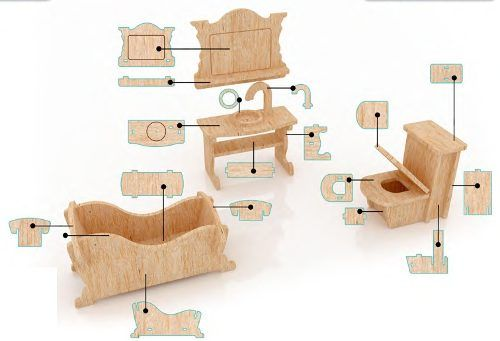 muebles miniatura  Buscar con Google  CASITAS DE MUÑECAS