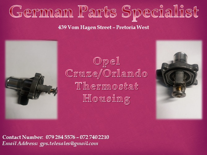 Chevrolet Cruze Orlando Thermostat Housing We Deliver In Gauteng