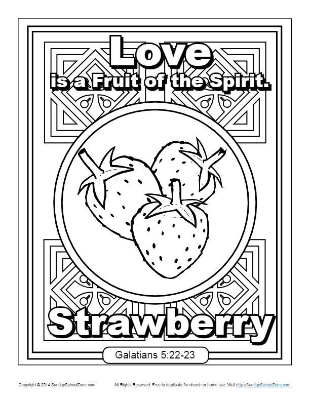 Fruit of the Spirit for Kids: Love Coloring Page in 2020 ...