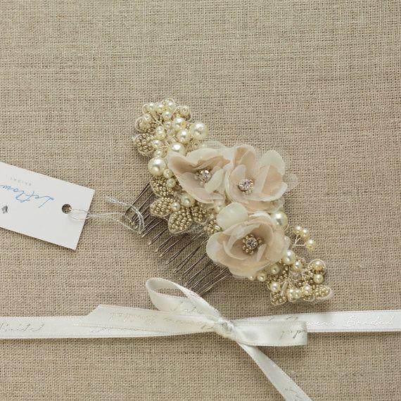 Wedding hair piece Bridal lace hairpiece Wedding hair ...
