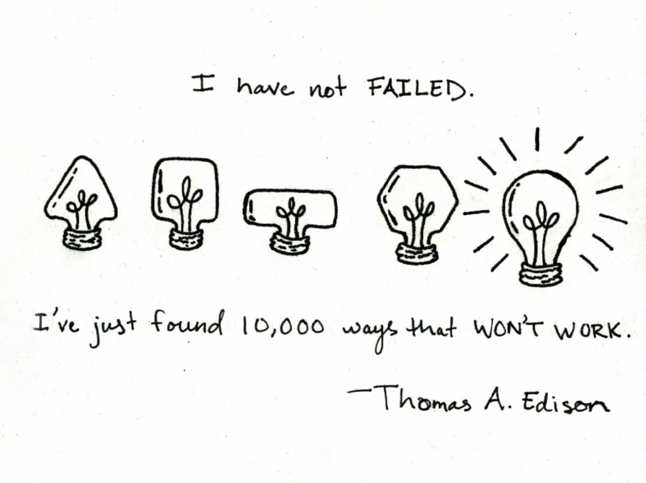 """Quotes About Light Bulbs: Quote From Thomas Edison: """"I Have Not Failed…"""""""