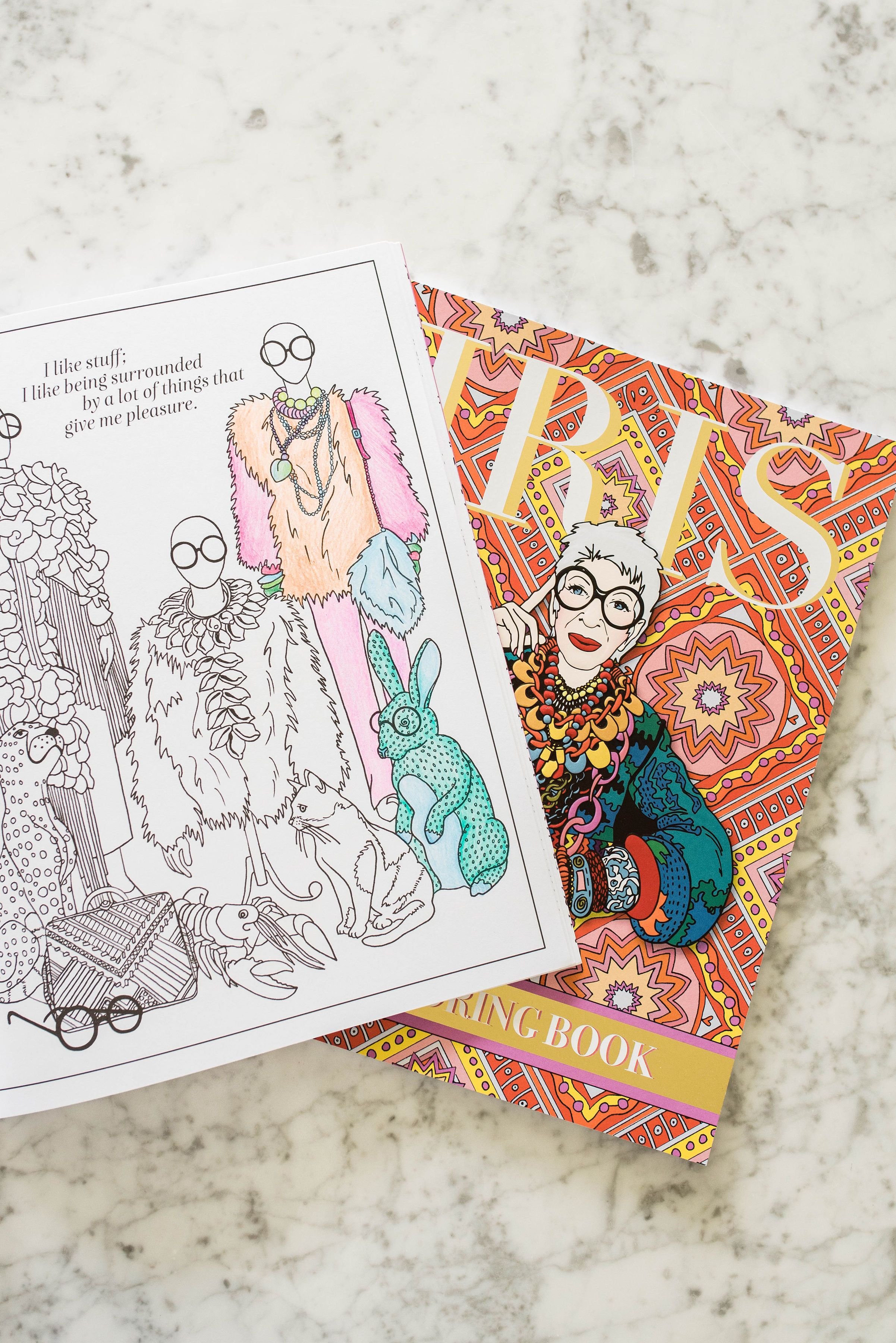 New Iris Apfel Coloring Book Will Support Student Scholarships Coloring Books Iris Apfel Iris