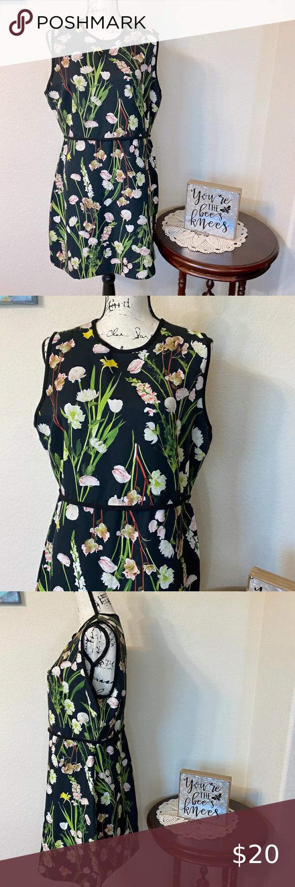 Victoria Beckham For Target Black Floral Dress In 2021 Floral Dress Black Lace White Dress Soft Surroundings Tunic [ 1740 x 580 Pixel ]