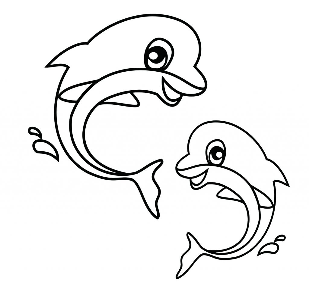 Easy Sea Creatures To Draw Easy To Draw Sea Creatures Easy Sea Animals To Draw Cute Sea Dolphin Coloring Pages Animal Coloring Books Easy Coloring Pages