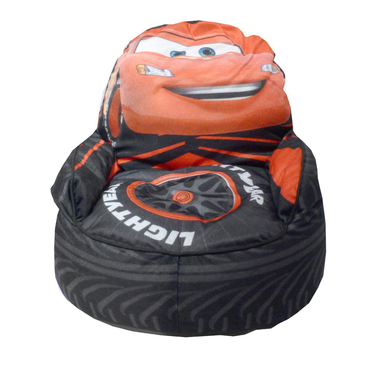 Disney Cars Bean Bag Chair Lightning Mcqueen Cool Bean