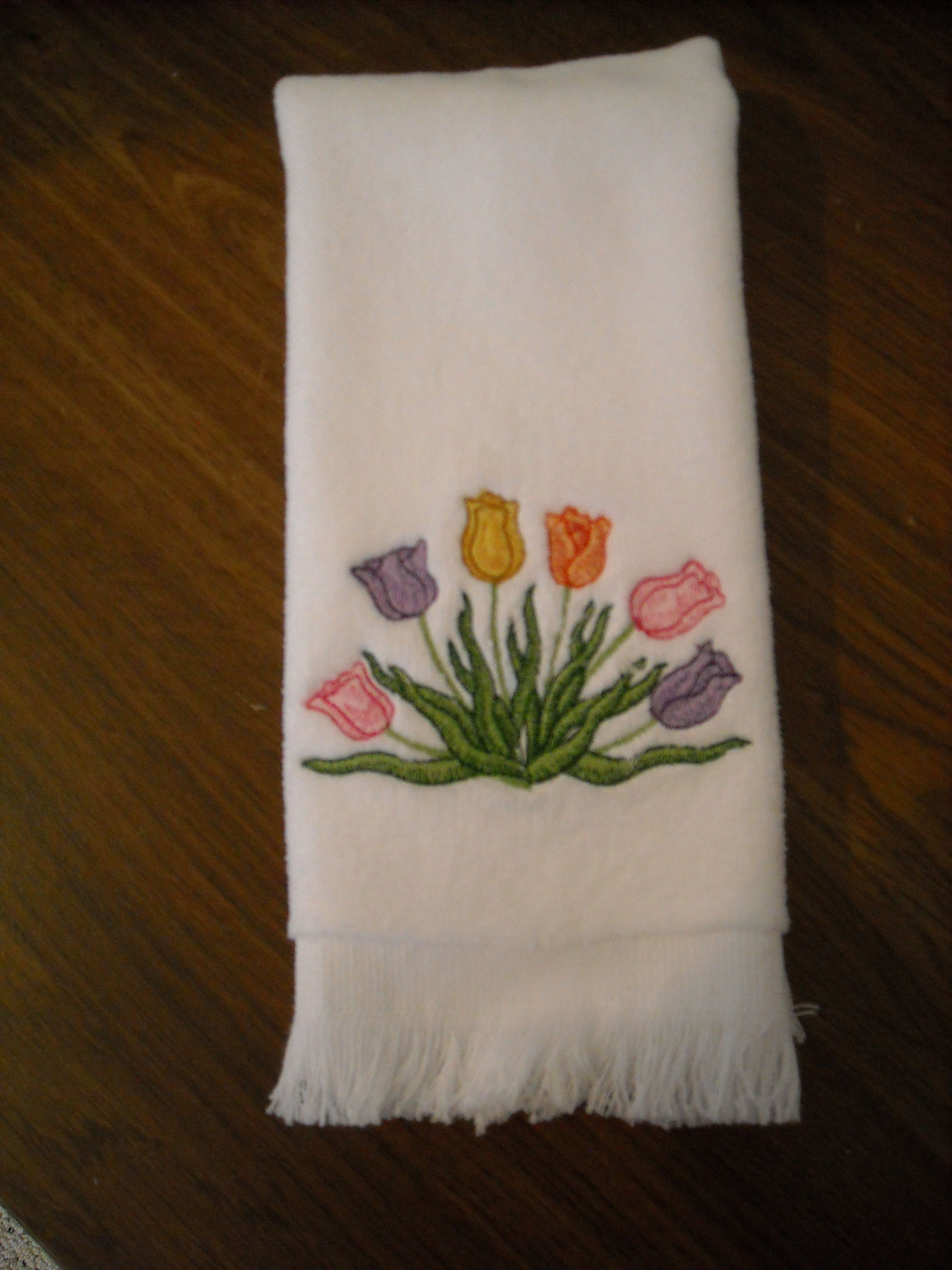 Easter hostess gift a fingertip towel with tulips for spring easter hostess gift a fingertip towel with tulips for spring negle Gallery