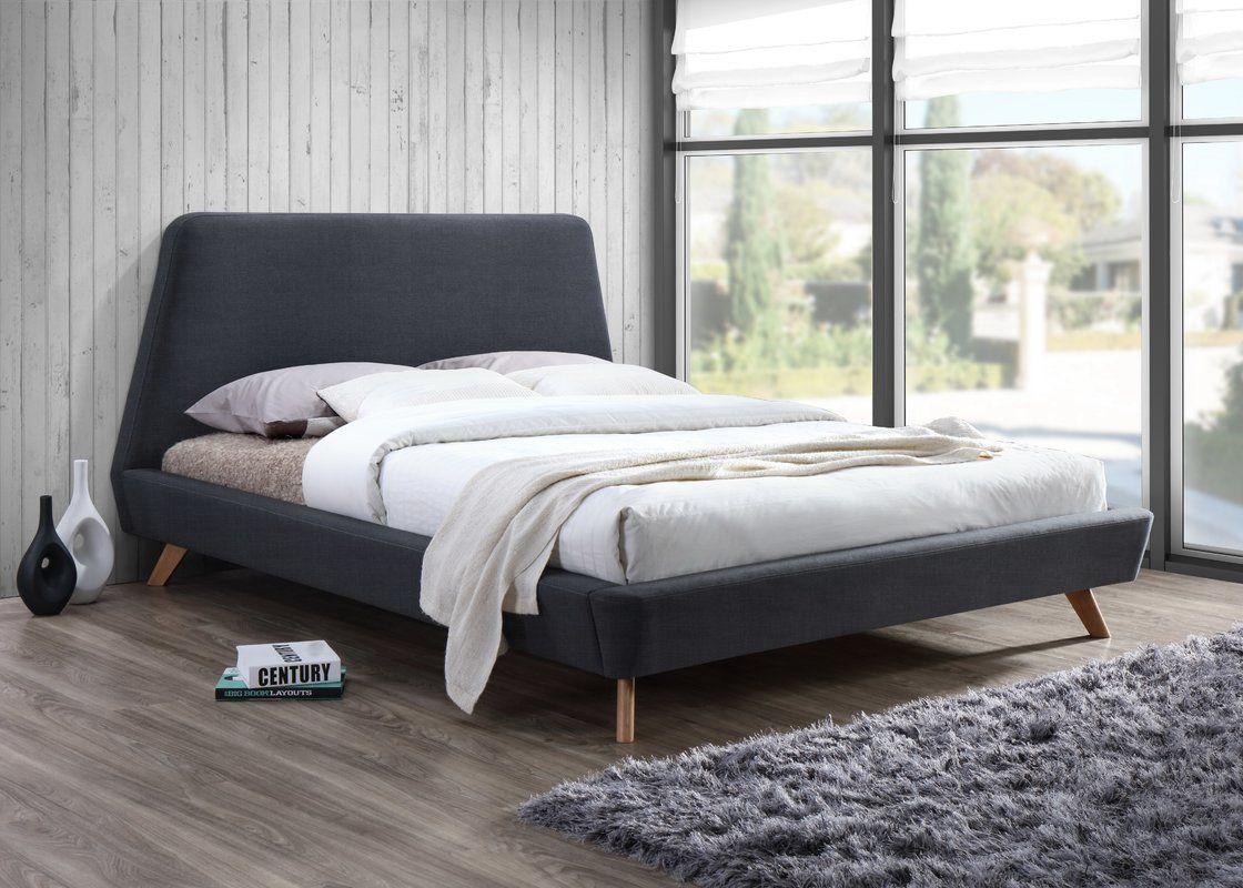 Mabry Upholstered Platform Bed Postelnye Prinadlezhnosti