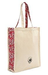 Flowers of Liberty Floral Print Canvas Tote