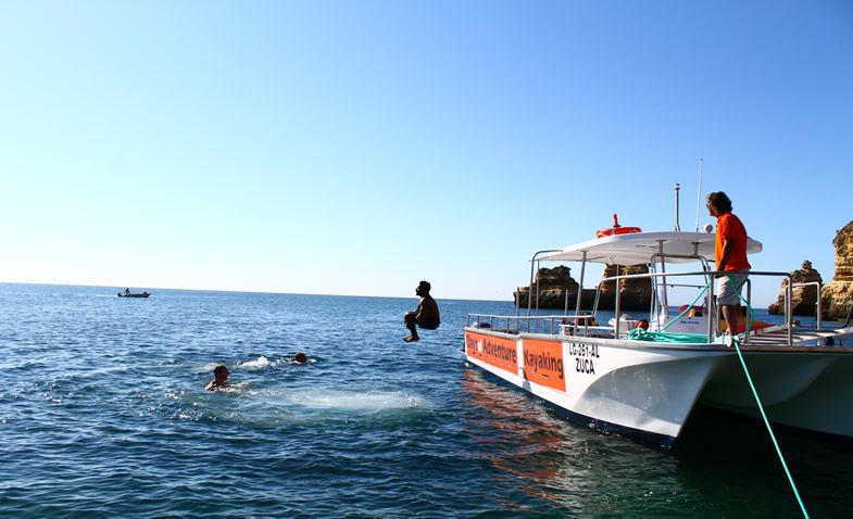 Boat ride and swim