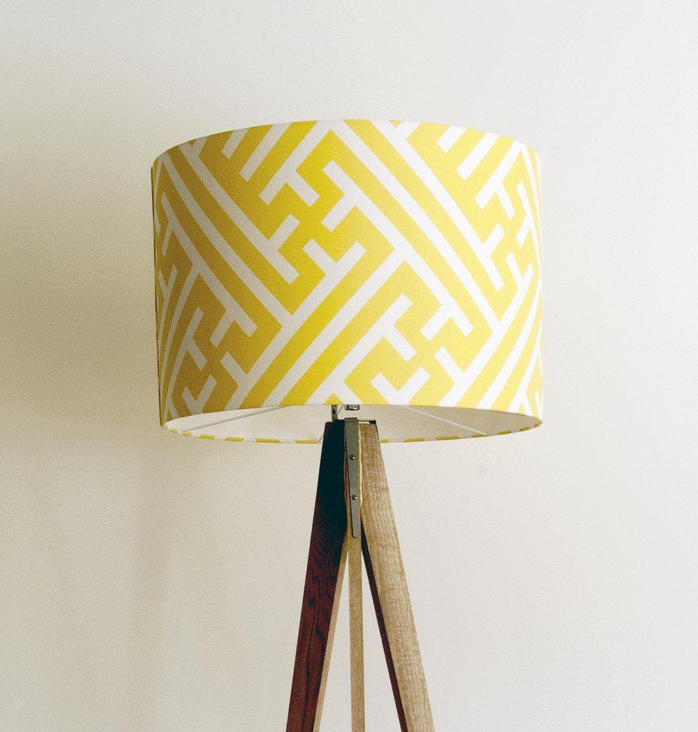 Large geometric drum lampshade cm diameter cm high this stunning