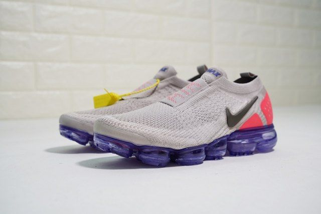 6000fade9aba9 Nike Air Vapormax Flyknit 2. 0 Grey Red Purple Unisex Running Shoes ...