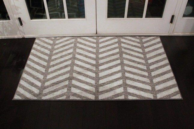 DIY Chevron Rug | Chevron rugs, Rugs, Dark bamboo flooring